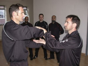 At the Wing Chun Classes Bedford the students train in the artistic skill of Chi Sau and many other activities
