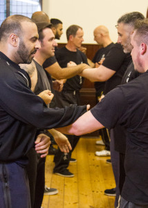 Students of Wing Chun Kung Fu training at the UKWCKFA Bedford branch