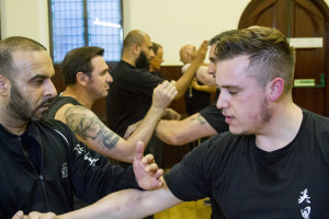 Students of Wing Chun Kung Fu training at the UKWCKFA Bedford Wing Chun branch