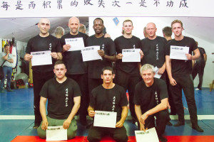 Siu Nim Tao grading candidates who took the test on 26th July 2016