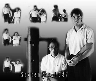 Bedford Wing Chun Teacher James Sinclair with Grandmaster Ip Chun 1987
