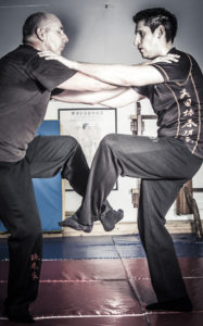 Bedford Wing Chun student train in the skill of Chi Gerk or Sticking Leg.